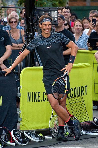 Before The Start Of This Year S U S Open Tennis Tournament Rafael Nadal Serena Williams Roger Federer Maria Sharapova Pete Sampra Nadal Tennis Tennis Workout Rafael Nadal