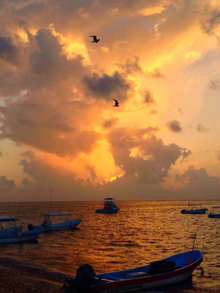Buenos días desde Puerto Morelos. Foto de Alfredo Gutiérrez.