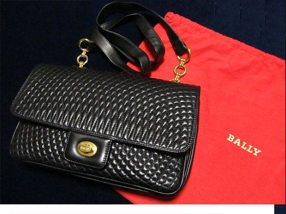 Bally Vintage Quilted Lambskin Flap Shoulder Bag Purse 80 S Leather Women Handbags At Hautedecades On Etsy