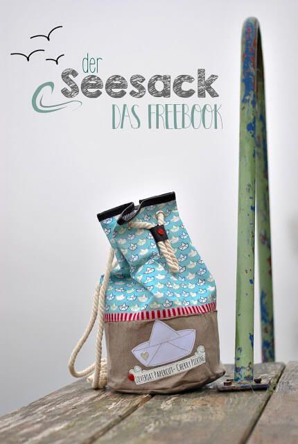 Seesack mit Kordel für Kinder - Freebook & Nähanleitung | sewing ...