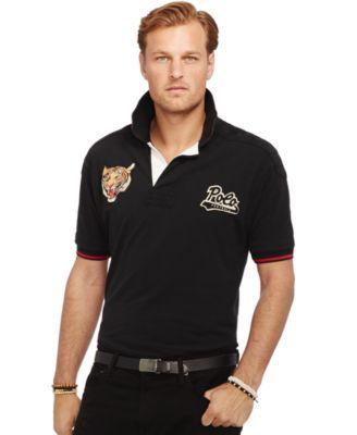 promo code 94866 3ef9d Polo Ralph Lauren Big and Tall Tiger-Head Polo | macys.com ...