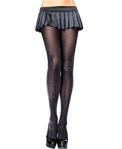 New Fashion Leg Avenue Sheer Black Pantyhose Stockings Denier 15 Nylons Hosiery One Size Women's Clothing