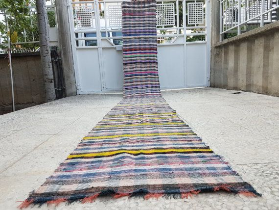 Colorful Cotton Runner  Stripes and Lines Turkish by HANDSONHIPS