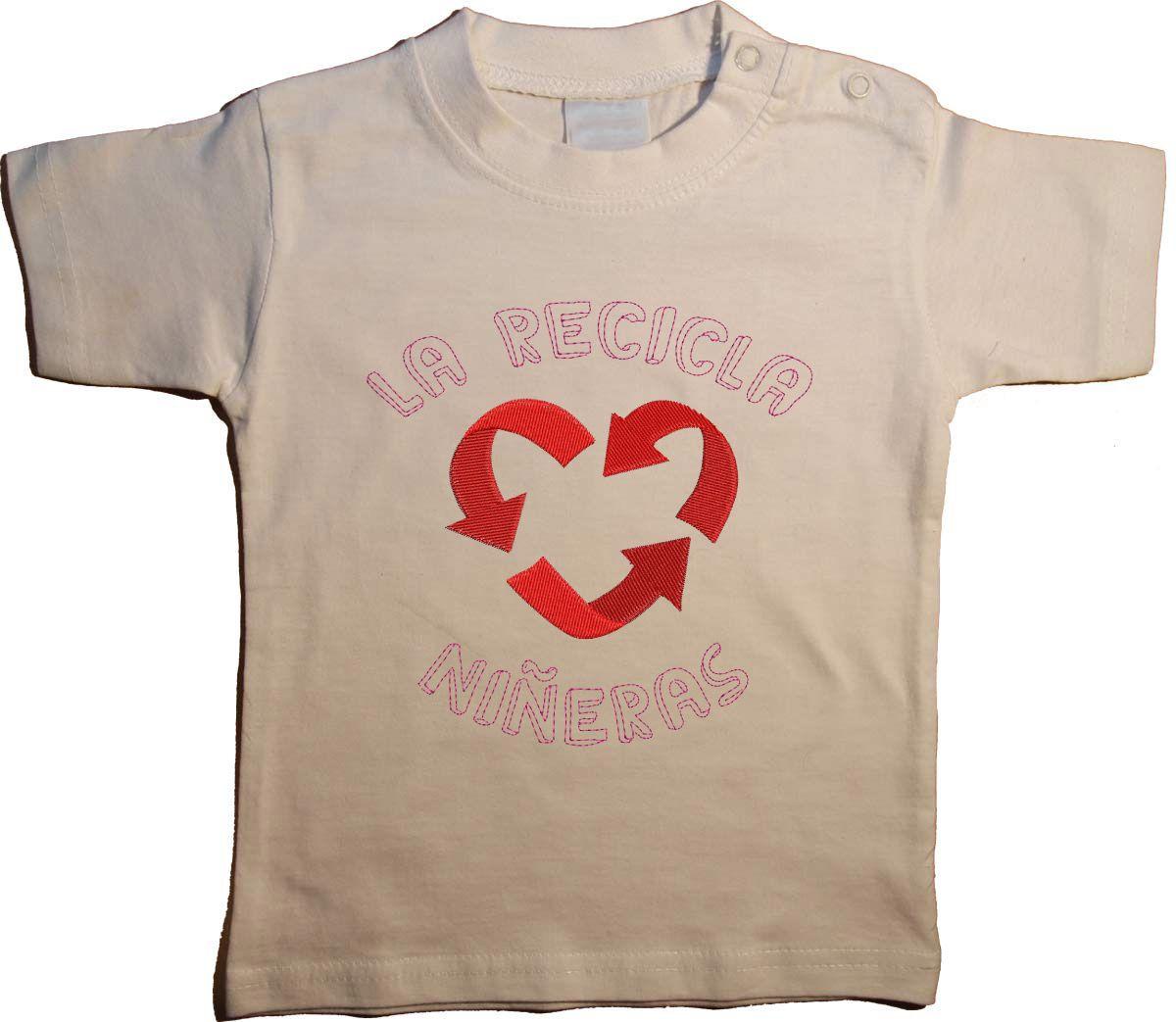 """Ropa bebé original: Camiseta original """"El recicla niñeras"""""""