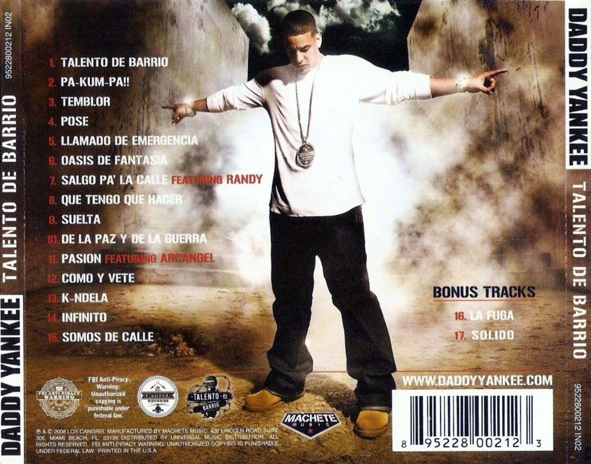 Caratula Trasera De Daddy Yankee Talento De Barrio Edicion Especial Daddy Yankee Eddie Dee Caratula