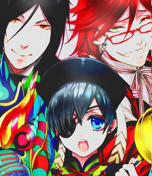 Sebastian, Ciel, & Grell - Black Butler - Kuroshitsuji