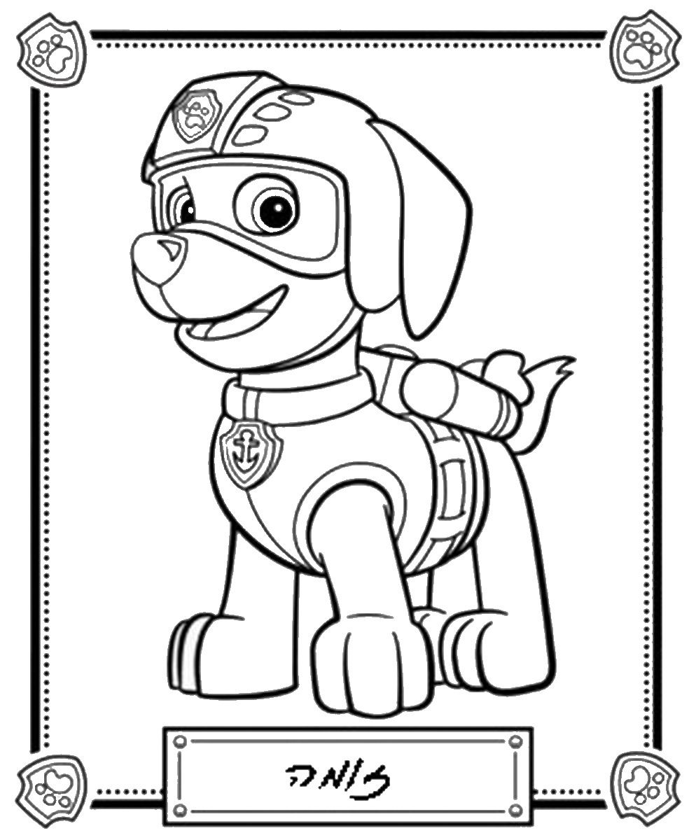 paw_patrol_coloring_page_9.jpg 994×1,200 pixels   coloring pages for ...
