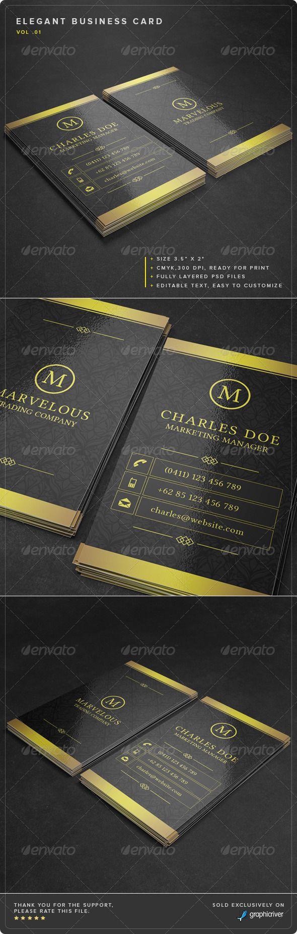 Elegant business card vol 01 elegant business cards business elegant business card vol 01 reheart Images