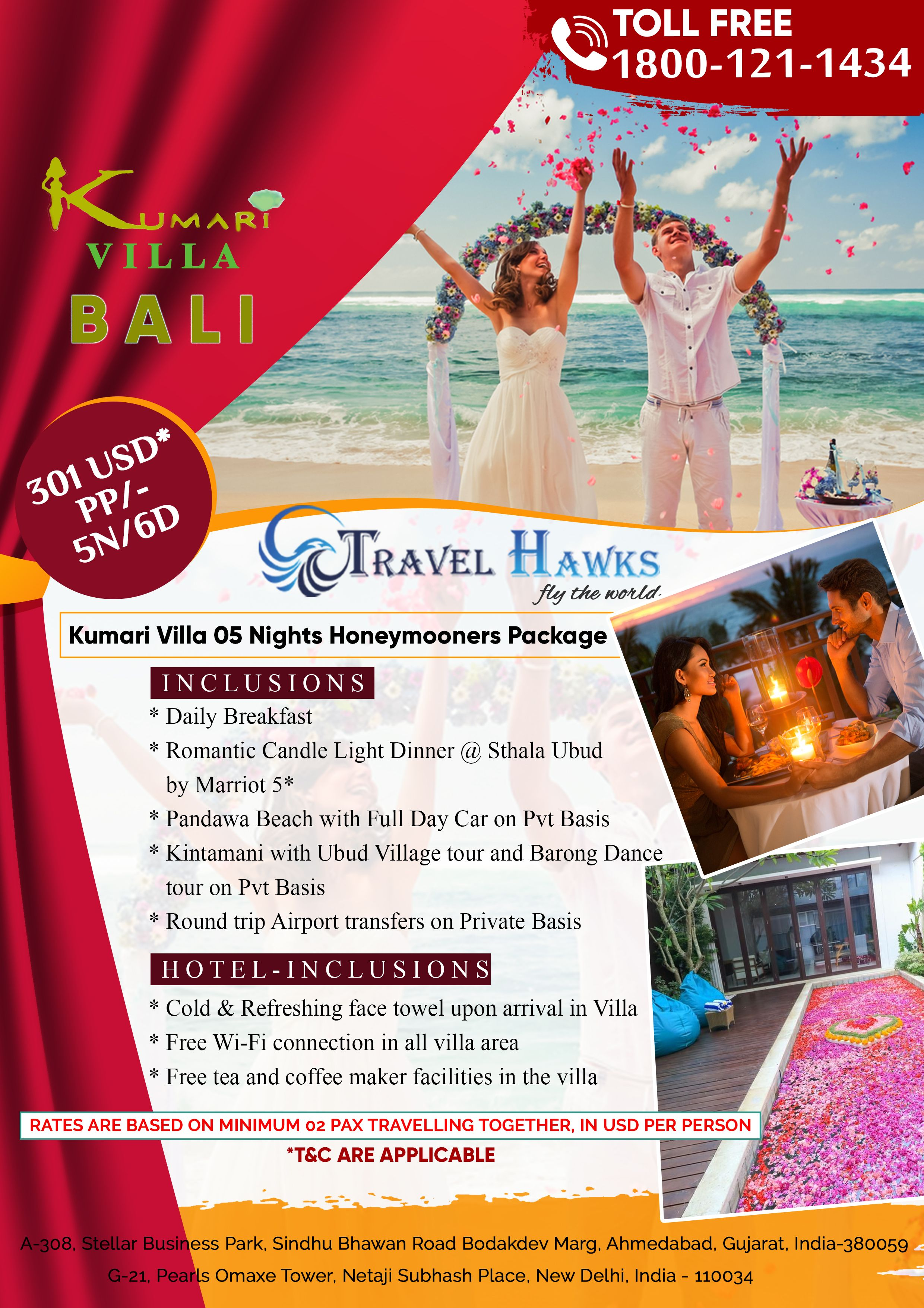 Inclusions Daily Breakfast Romantic Candle Light Dinner Sthala Ubud By Marriot 5 Pandawa Beach With Full Day Car On Pvt Basis Kintamani Wit