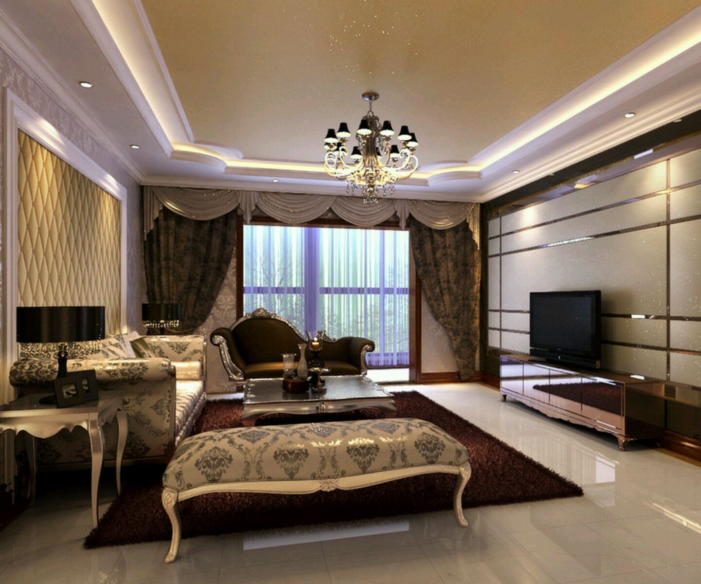 Luxury Modern Living Rooms villa interiors luxury villa interior lighting and dining room