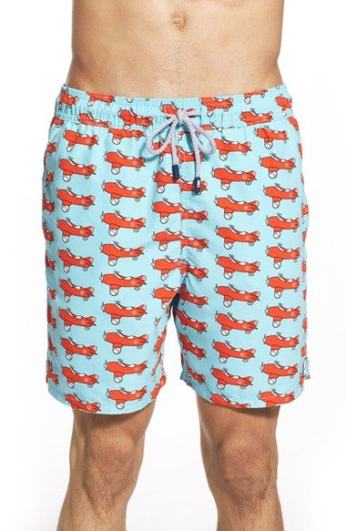 244590c079 Tom & Teddy Airplane Print Swim Trunks | For Him G.C. in 2019 | Swim ...