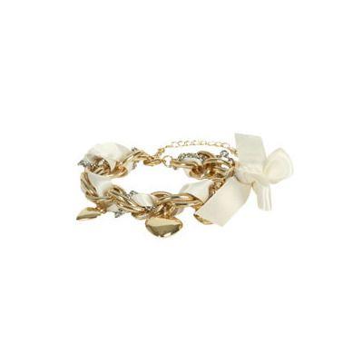 Ribbon Heart Charm Bracelet