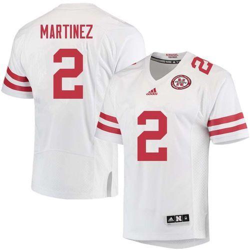 adba432cb21 Nebraska Cornhuskers Adrian Martinez #2 Nike Football Replica Jersey ...