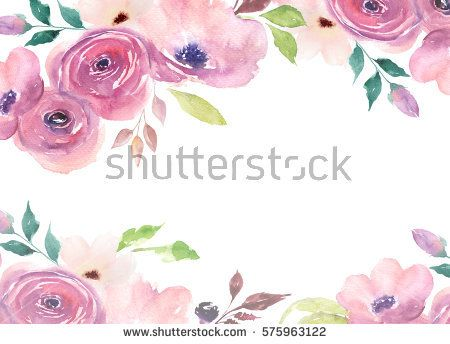 Floral Card Watercolor Template For Wedding Invitations Posters