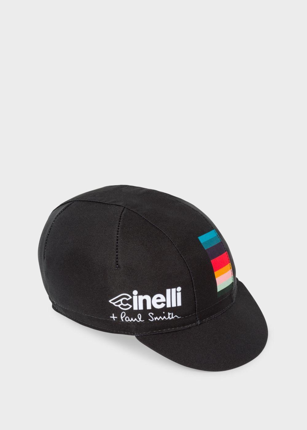 669b52b86f3 Paul Smith + Cinelli Black  Artist Stripe  Detail Cycling Cap - Paul Smith  US