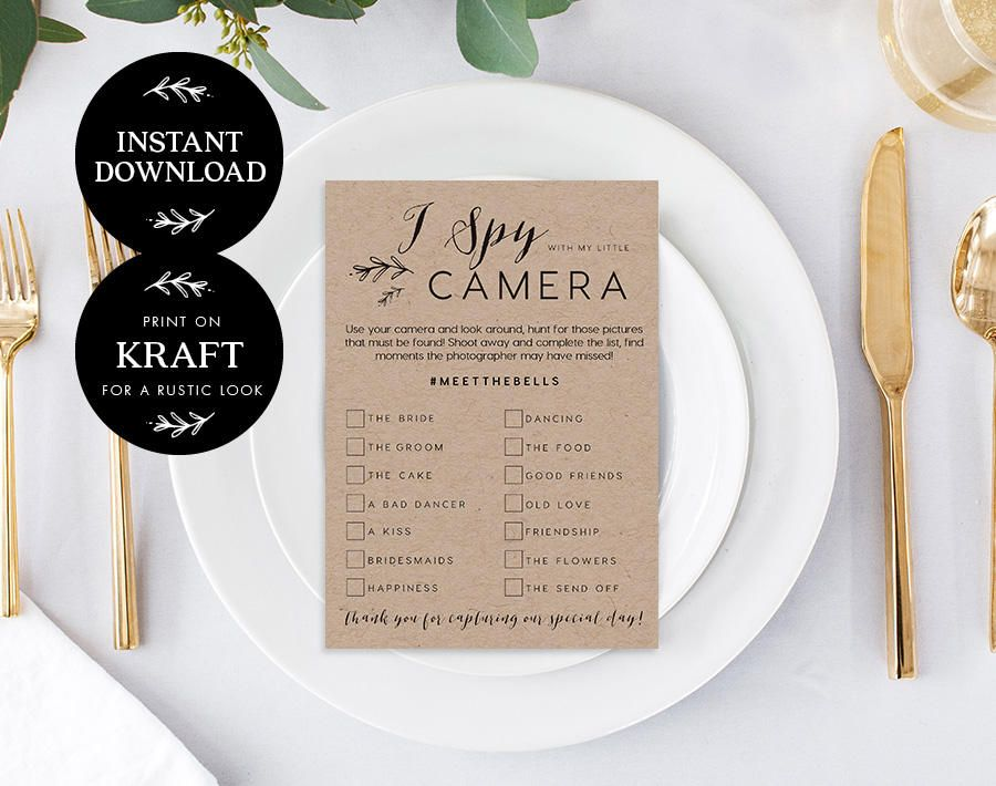 I Spy With My Little Camera Editable pdf Template, INSTANT
