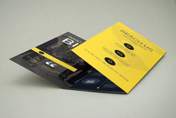 creative trifold brochure by bouncy on creativemarket work