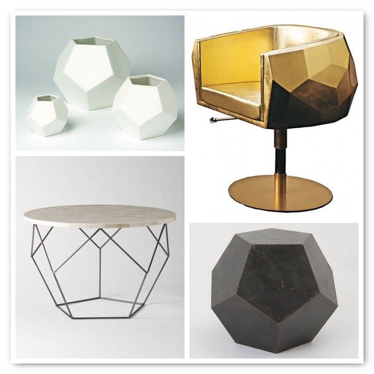 Faceted Vases By Dwell Studio Gold Leaf And Leather Chair