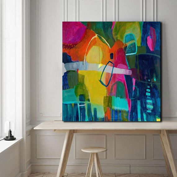 Bright Abstract Art Prints