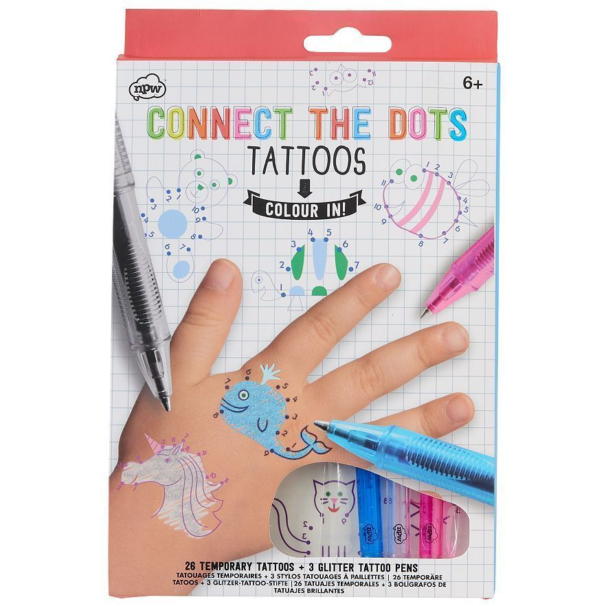 Henna Tattoo Kits For Kids: Connect The Dots Temporary Tattoo Kit For Kids #NPW
