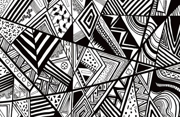 Superbe Abstract Art Black And White Vectors By Lowther Design
