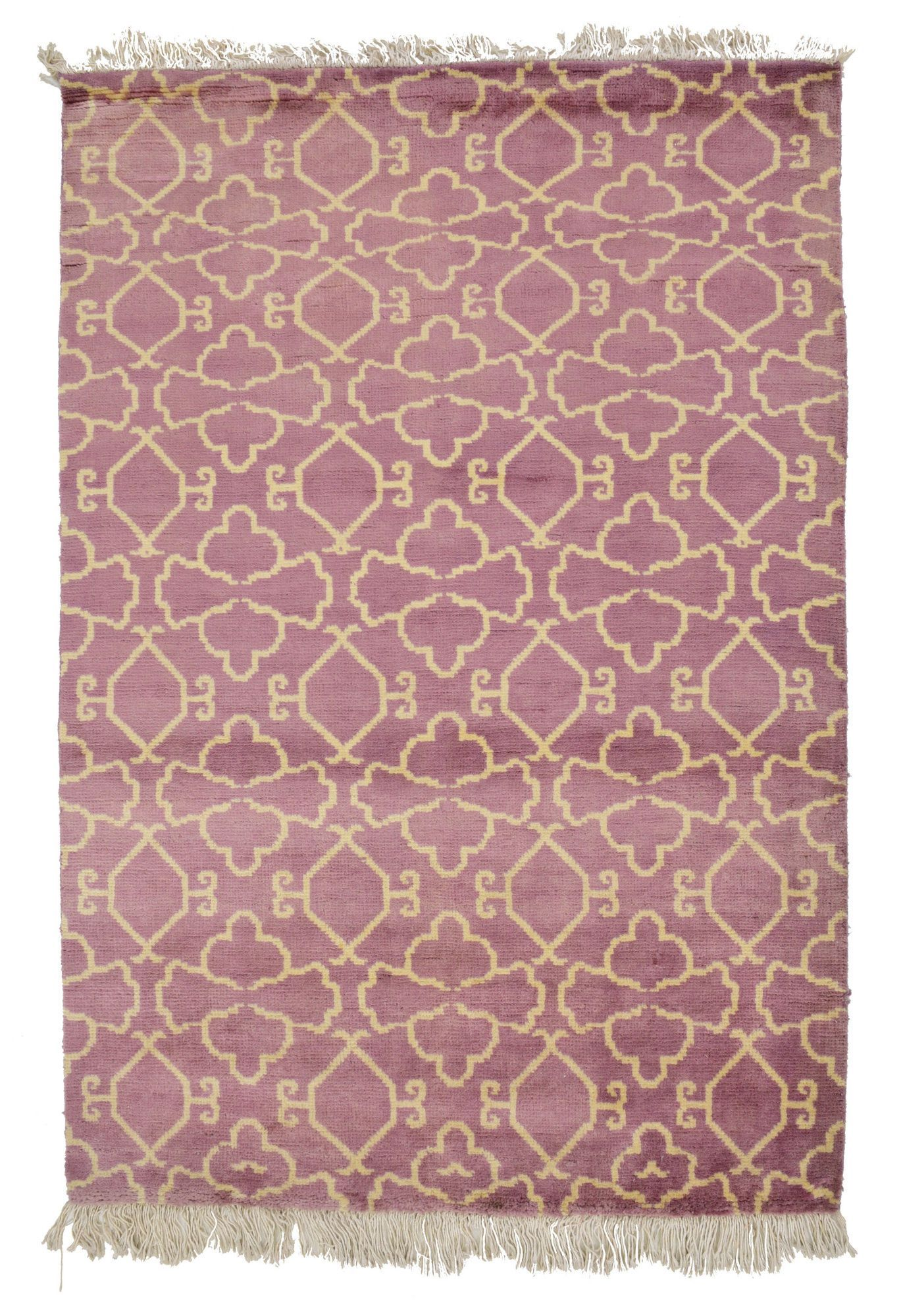 4x6 Purple Modern Area Rug