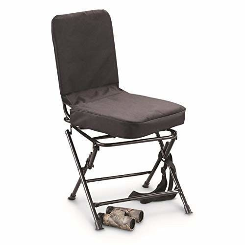 Magnificent Guide Gear Swivel Hunting Chair Black Folding Legs Carry Gamerscity Chair Design For Home Gamerscityorg