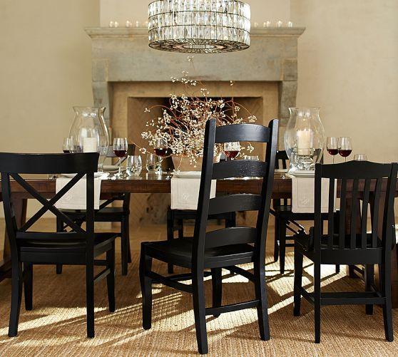 Merveilleux Wynn Ladderback Chair | Pottery Barn   BLACK LADDERBACK CHAIR W/DARK BROWN  WOOD TABLE