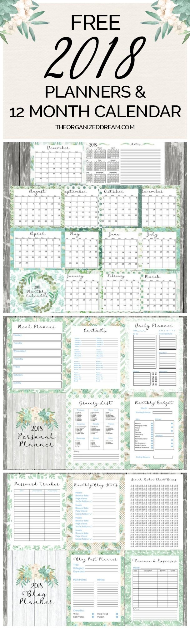 Free  Blog Planner And Personal Planner Printables Are Now