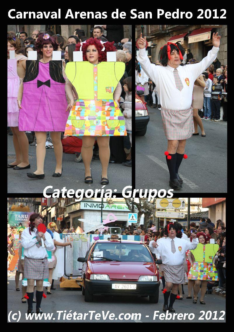 Carnaval de Adultos 2012 de Arenas de San Pedro. Grupo de los recortables.