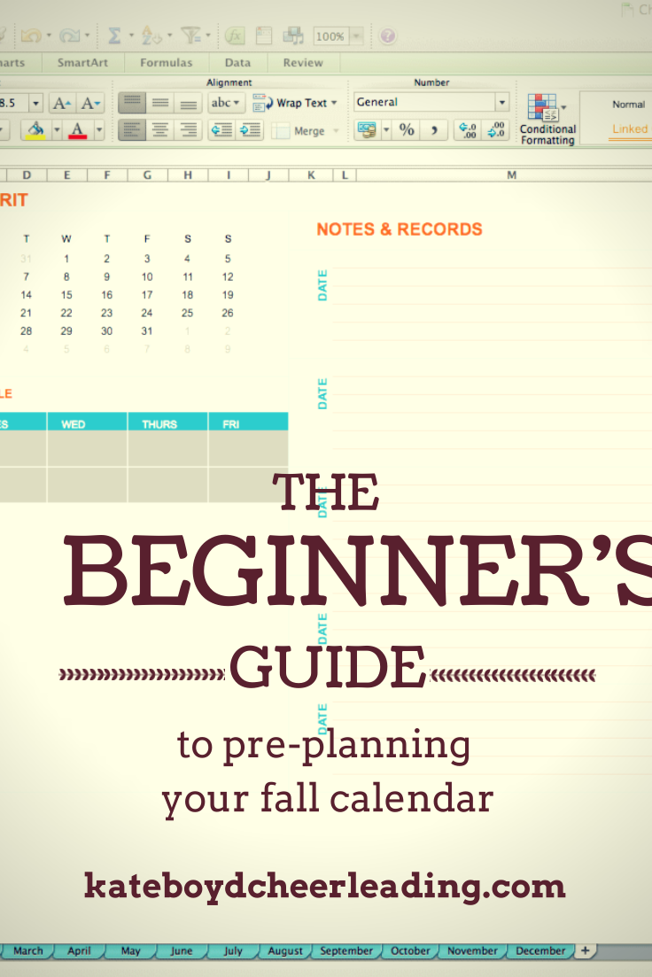 The Beginner Cheer CoachS Guide To PrePlanning Your Fall
