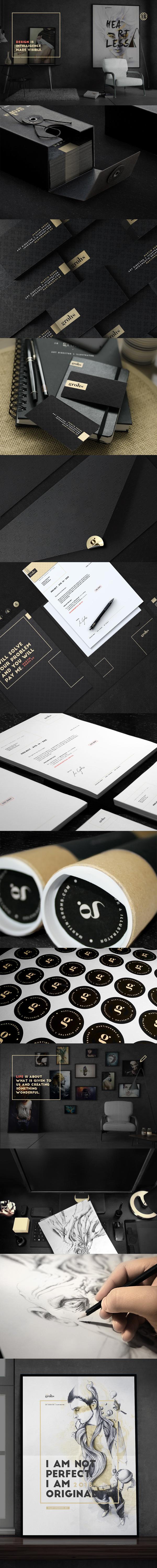 Unique branding design. Martin Grohs. Design is intelligence made visible.