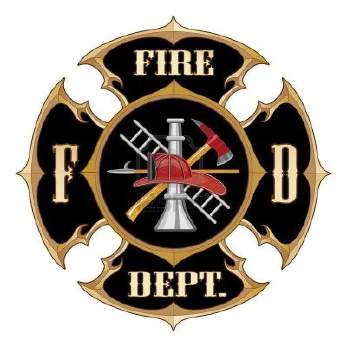 Stock Vector Firefighter, Maltese cross, Firefighter logo