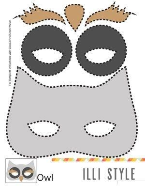 Awesome Owl Mask Printable Template   Illistyle.com By Daisy4