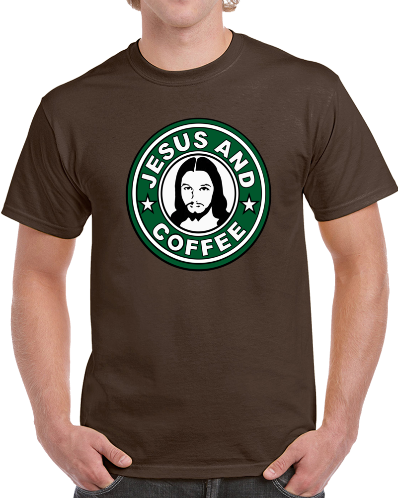 Jesus And Coffee Starbucks Logo T Shirt Personalized t