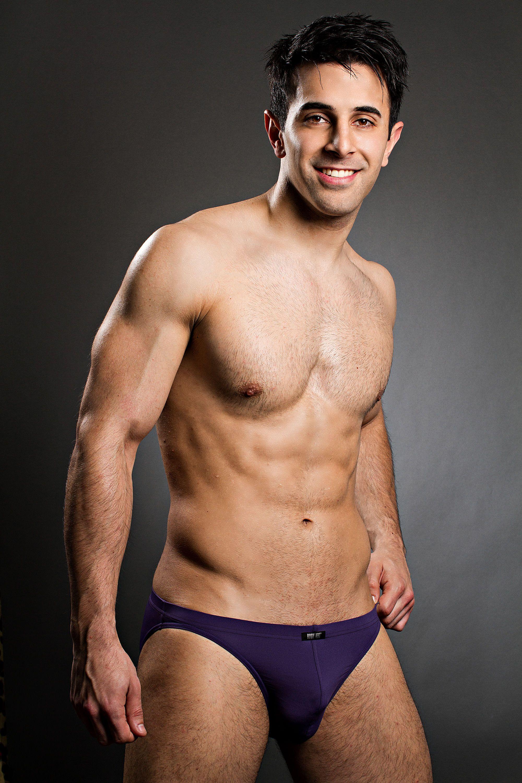 Mature purple panties