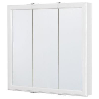 Glacier Bay 30 In X 30 In Surface Mount Tri View Mirrored