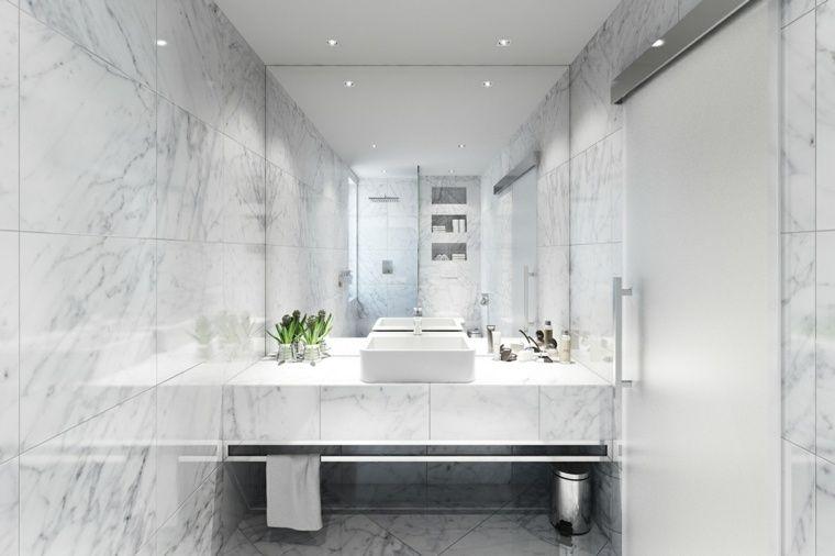 Salle de bain marbre  50 exemples d\u0027aménagement