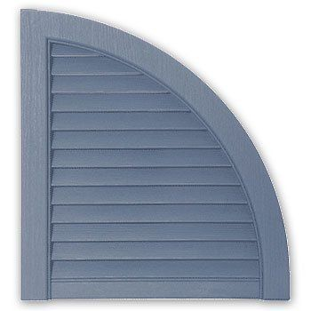 Alcoa Mastic Arch15lv 41 2 Pack Blue 15 Open Louvered Arch Top For Vinyl Shutters By Alcoa 34 02 Architect Exterior Vinyl Shutters Vinyl Shutters Real Wood