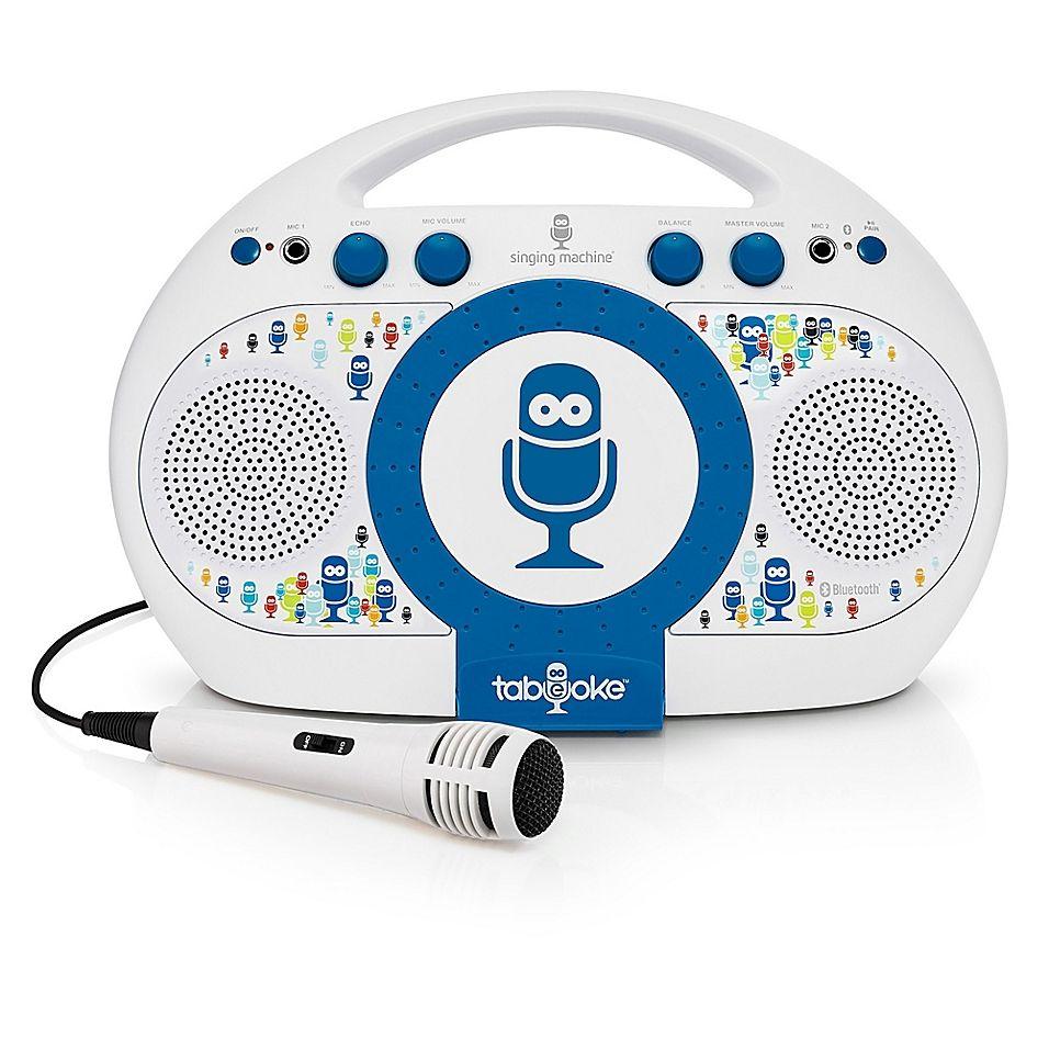 The Singing Machine Tabeoke In White Karaoke system
