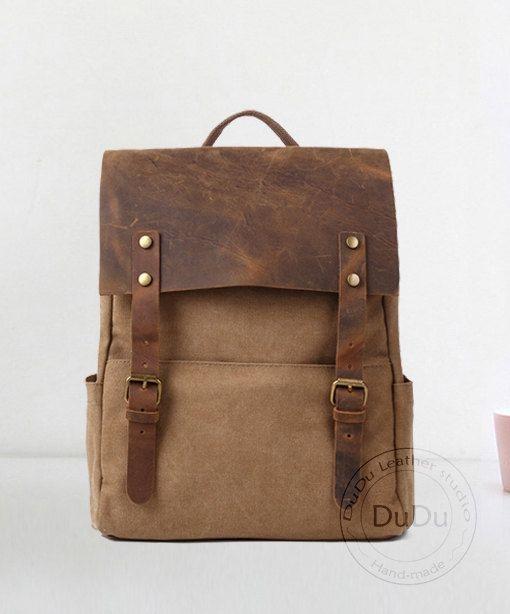 Cartera bolso  monedero  mochila  morral de cuero  por DuDuLeather, $55.90