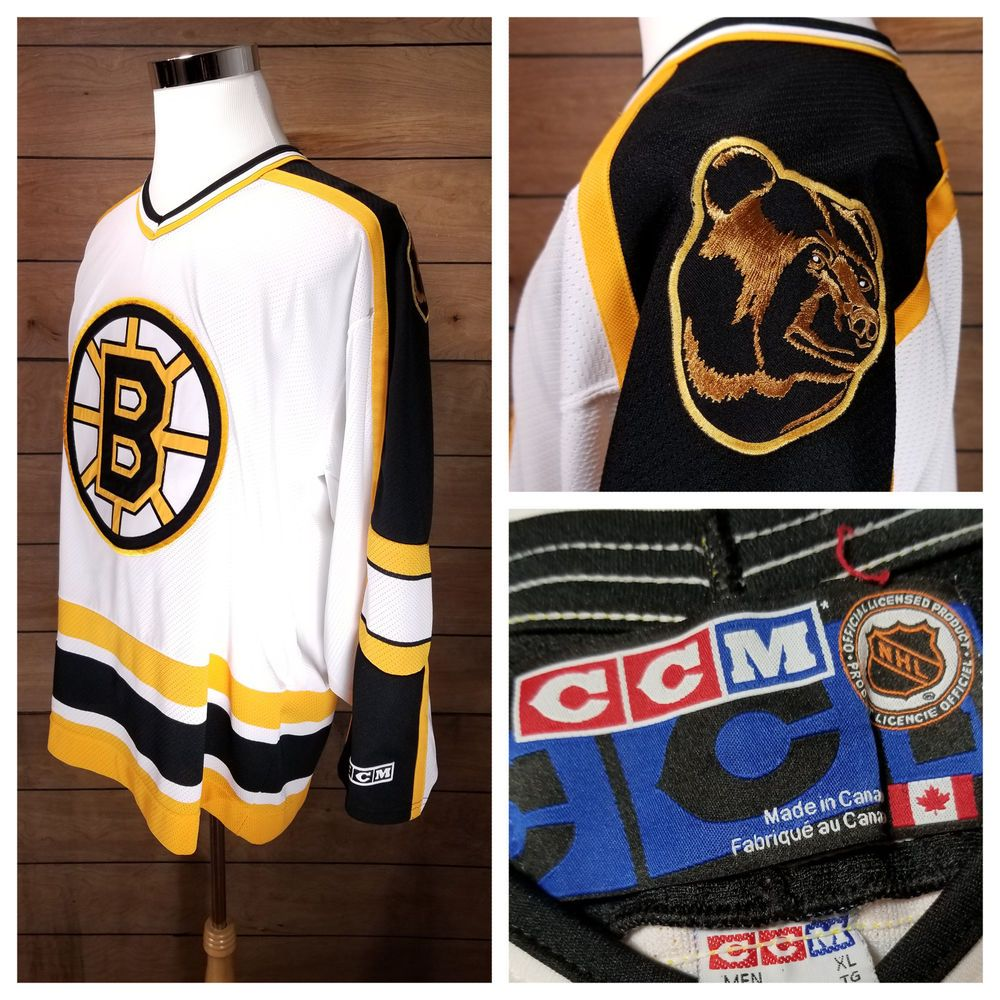 Men S Vintage Boston Bruins Hockey Jersey Official Nhl 90s Ccm Blank Size Xl Boston Bruins Hockey Bruins Hockey Vintage Men