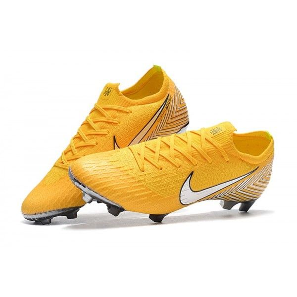 Nike World Cup 2018 Mercurial Vapor Xii Fg Boots Neymar Yellow White Soccer Boots Nike World Nike Football Boots