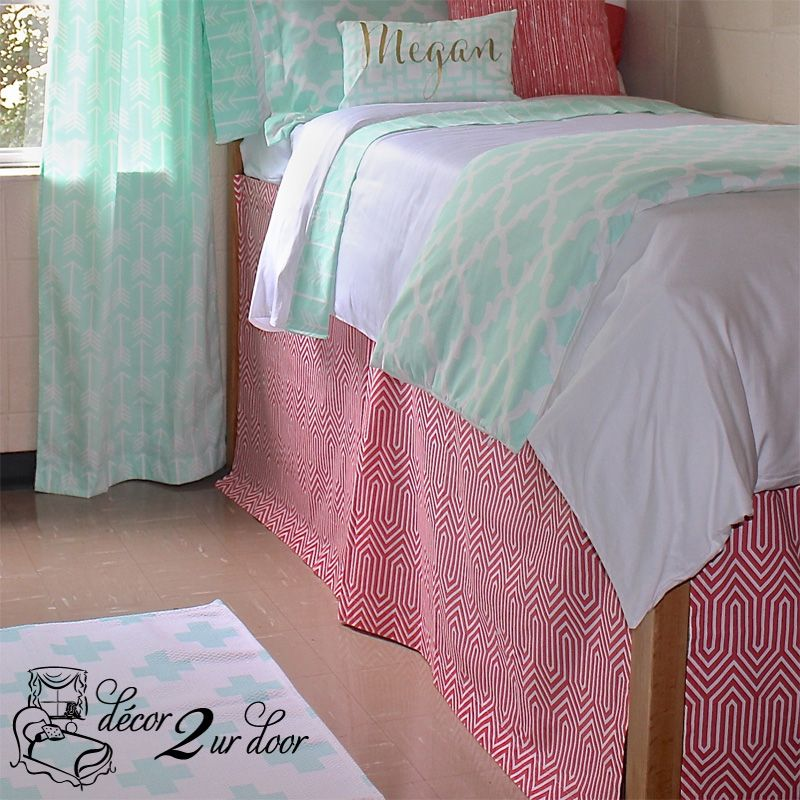 Design Your Own Extended Length 34 Drop Dorm Room Bed Skirt Dorm