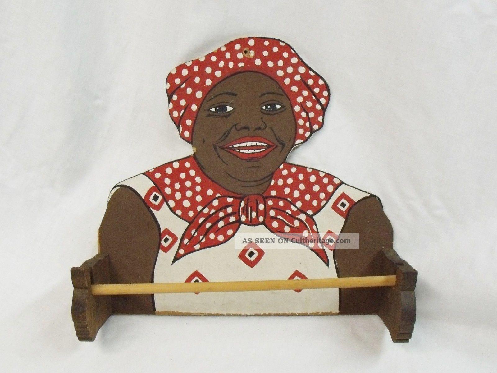 Rare Vintage Aunt Jemima Paper Towel Holder 7s Advertising