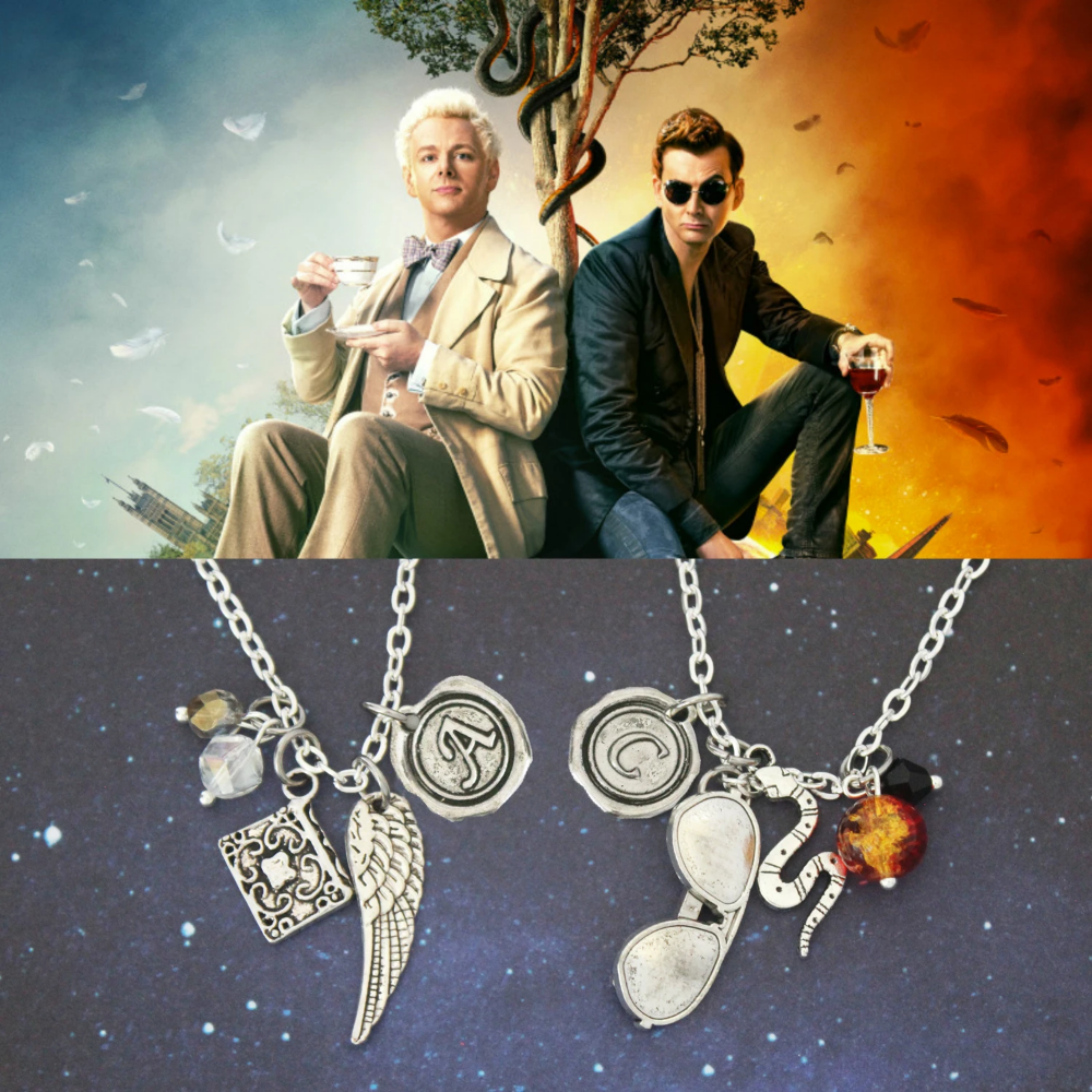 Good Omens Aziraphale and Crowley Charms
