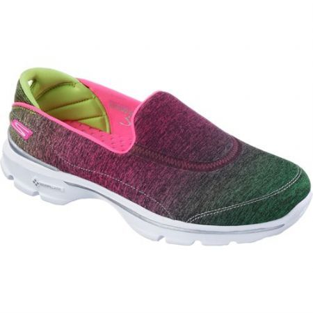 Skechers Womens Go Walk 3 Aura Pink And Lime