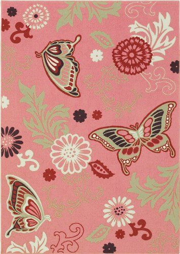 Shaw Rug Kathy Ireland Home Young Attitudes Collection Butterfly ...