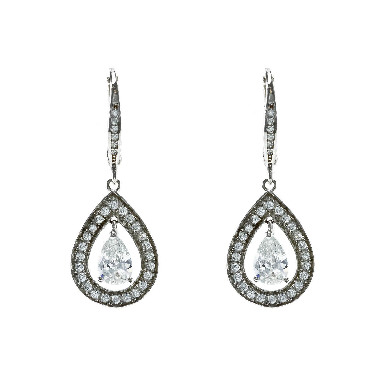 Tear drop lever back earrings Item e3352 Earrings