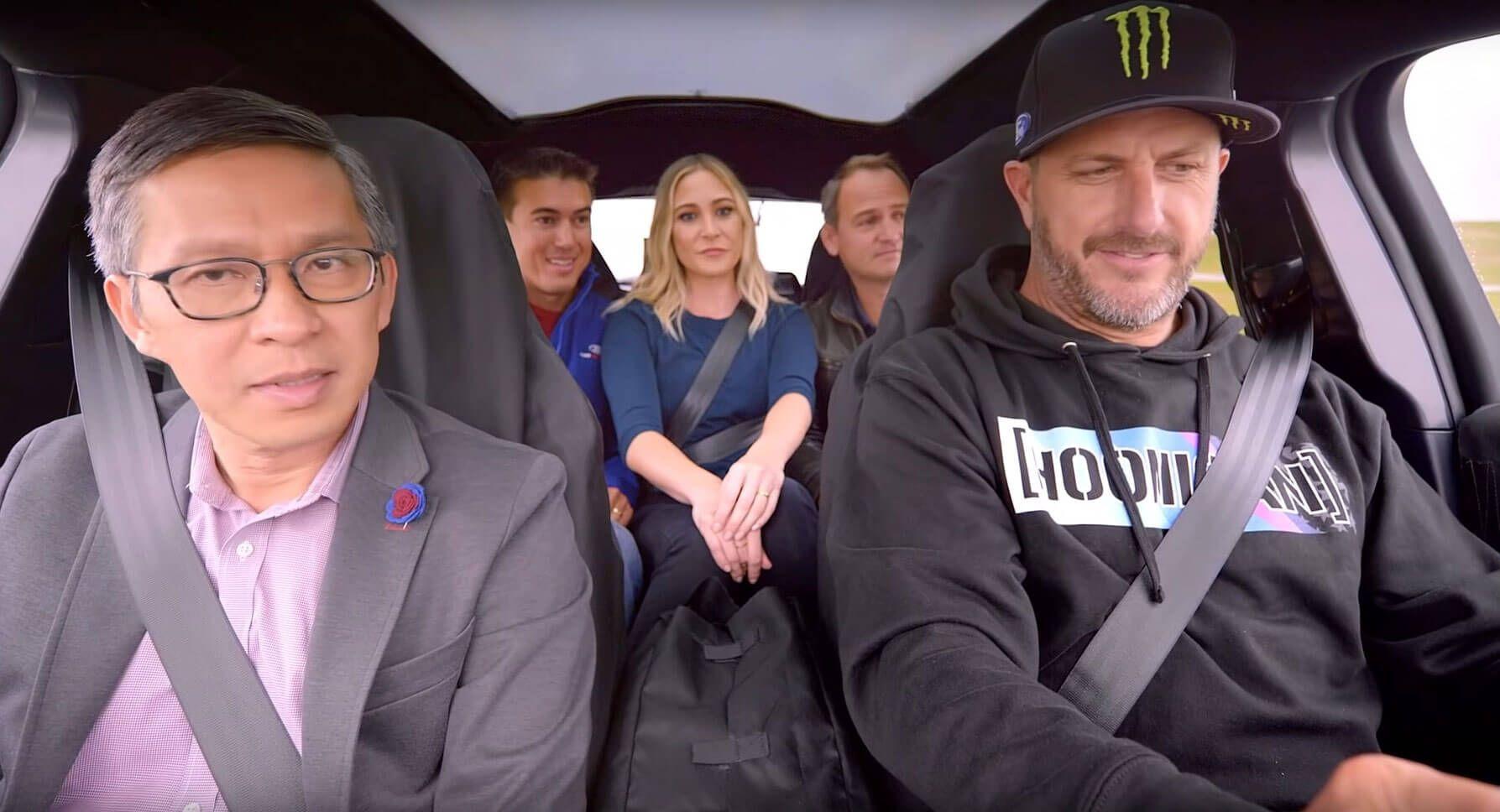 Ken Block Meets Ford Mustang Mach-E, Pops His EV Cherry
